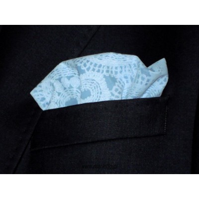 Poszetka do garnituru niebieska