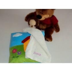 Ręcznik 30x50 kremowy z imieniem dziecka