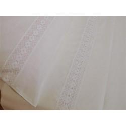 Pościel bawełniana biała z koronką 220/200