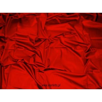 Prześcieradło satynowe proste 220x210 czerwone