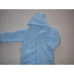 Szlafrok dziecięcy soft niebieski  98