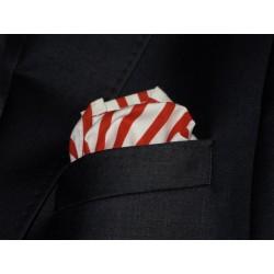 Poszetka do garnituru biało czerwona