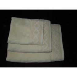 Ręczniki kremowe z koronką 3 szt