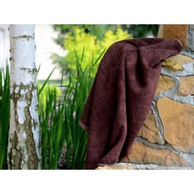 Ręcznik bambusowy brązowy 70x130