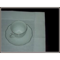 Podkładki na stół lniane białe 2 szt