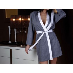 Szlafrok damski bawełniany szary, cienki XL