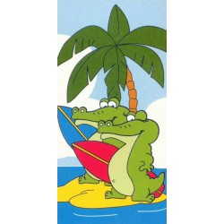 Ręcznik plażowy krokodyl 75x150