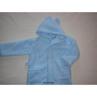 Szlafrok dziecięcy soft niebieski  134
