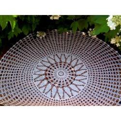 Obrus szydełkowy okrągły 100 cm