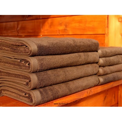 Ręcznik hotelowy Odyseja brązowy 50x100cm