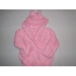 Szlafrok dziecięcy soft różowy  98