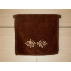 Ręcznik kuchenny brązowy haftowany