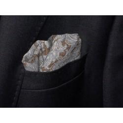 Lniana, elegancka poszetka do garnituru kolorowa
