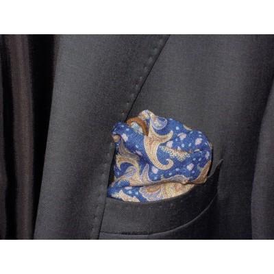 Wełniana, elegancka poszetka do garnituru kolorowa
