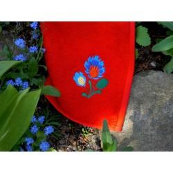 Ręcznik 30x50  czerwony folk