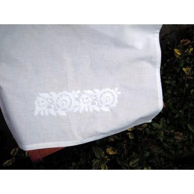 Ścierki kuchenne białe haftowane  2szt