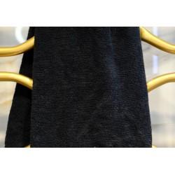 Ręcznik frotte czarny  50x90